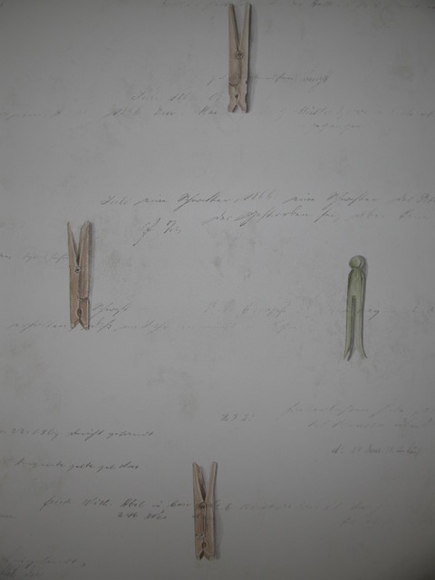 clothespin wallpaper traditional laundry room boston