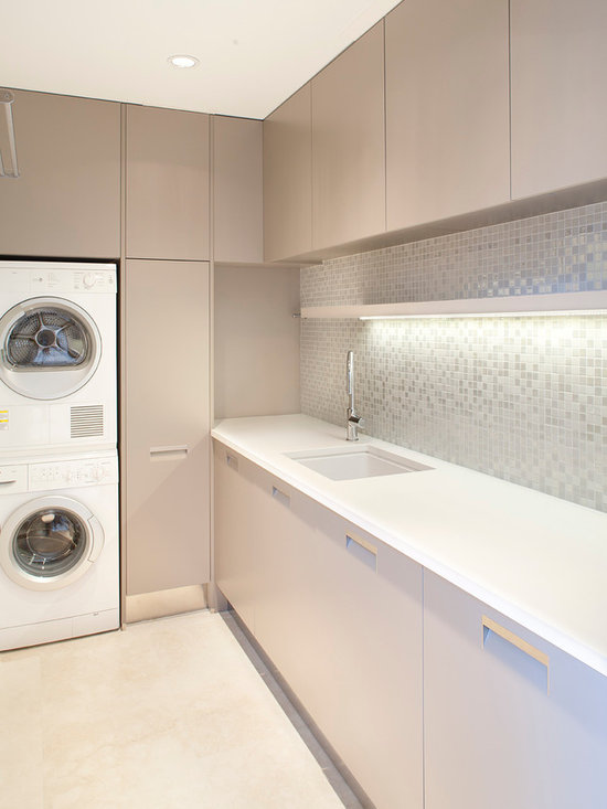 Stacked Washer And Dryer Laundry Room Design Ideas, Pictures, Remodel & Decor