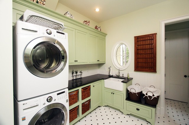 Coastal Cottage - Traditional - Laundry Room ...