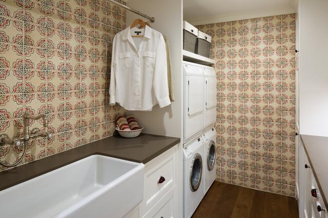 Coastal Ranch Farmhouse Laundry Room San Diego By