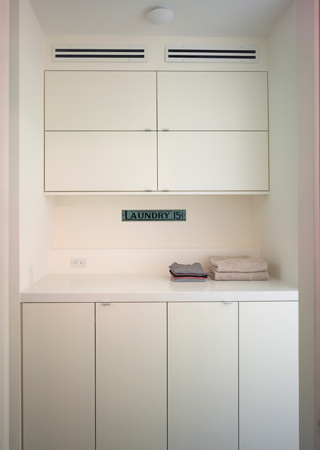 Cole Street modern-laundry-room