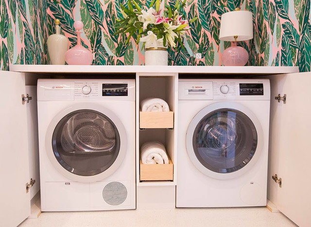 compact laundry pairs - tropical - utility room - houston -k&n sales