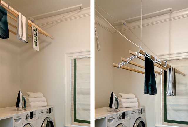 Example of a classic laundry room design in New York