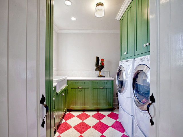 contemporary laundry room Contempo Country Laundry Room