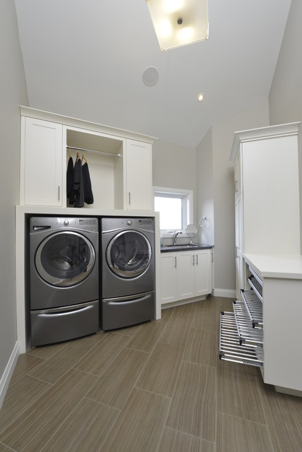 New Contemporary Energy Efficient Home contemporary-laundry-room