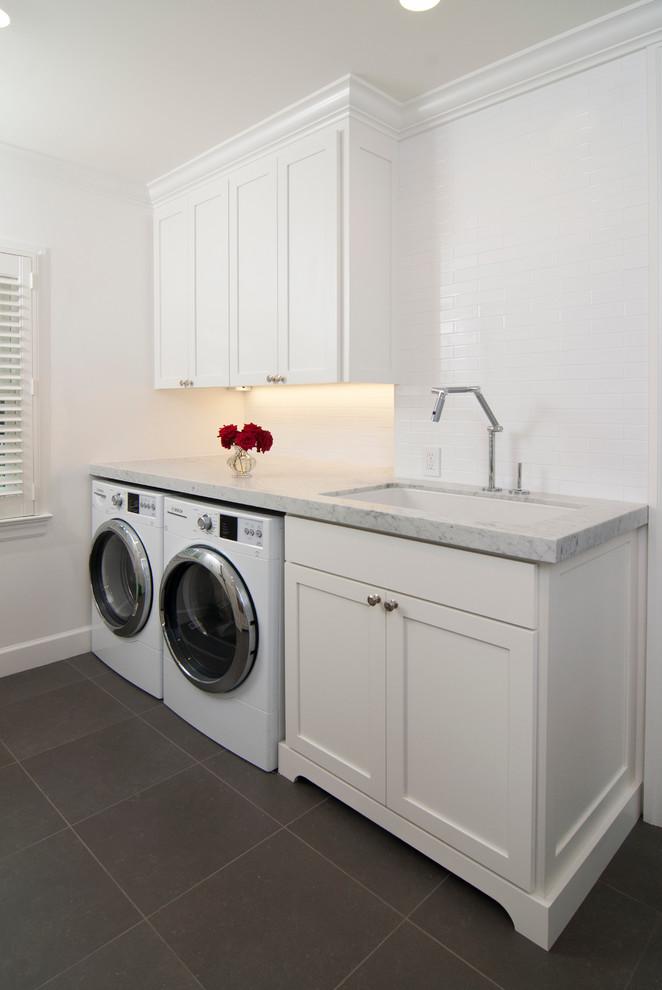 Trendy laundry room photo in San Francisco