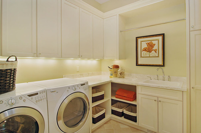 Convenient Second Floor Laundry contemporary laundry room