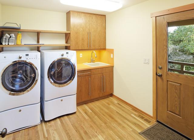 Corvallis Custom Kitchens & Baths modern-laundry-room