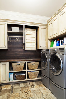 Traditional Laundry Room by Jacksonville Beach Interior Designers & Decorators Amanda Webster Design