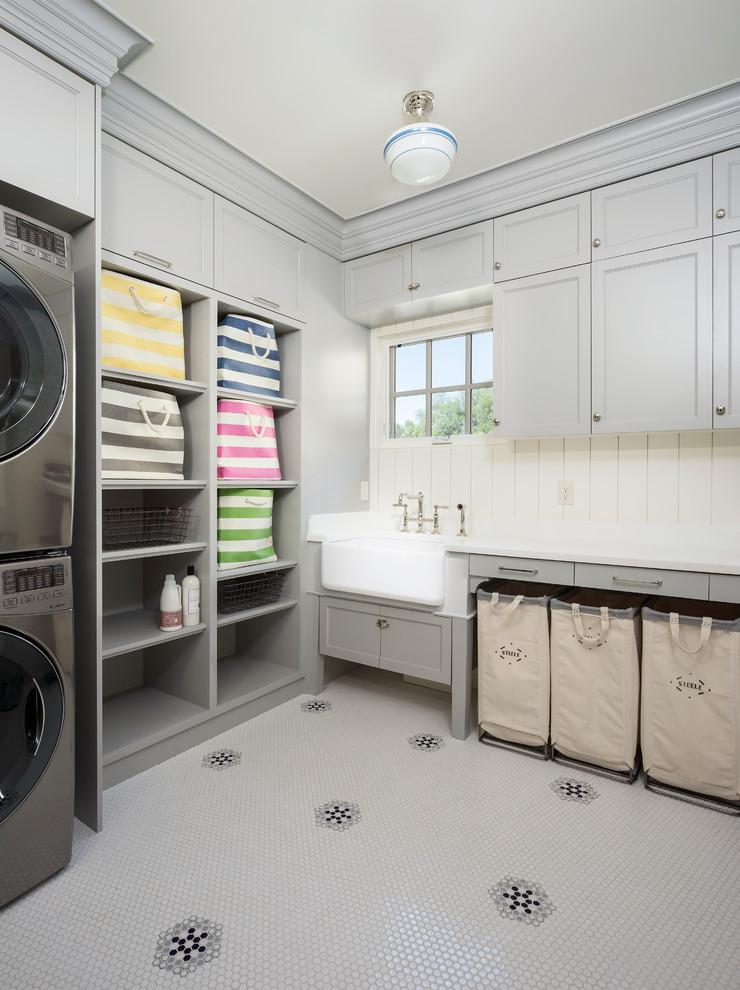 Laundry room - coastal laundry room idea in Salt Lake City