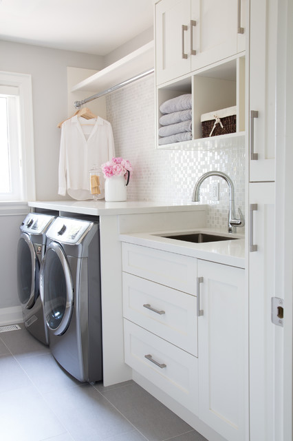 Courtsfield Ave. transitional-laundry-room