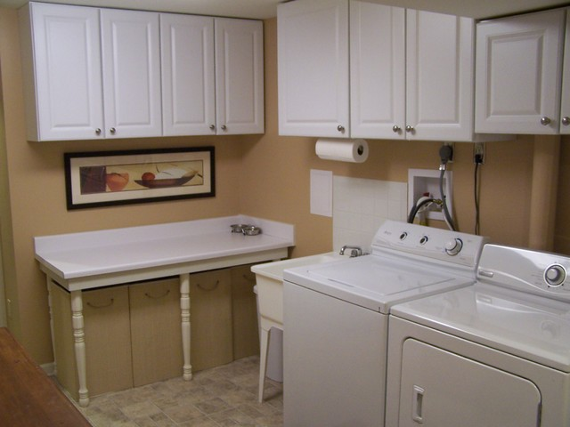 Cozy, Classy Basement - Traditional - Laundry Room - dc metro - by Details Home Services