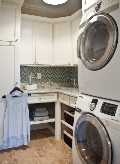 Craftsman Style Family Home Laundry Room Traditional