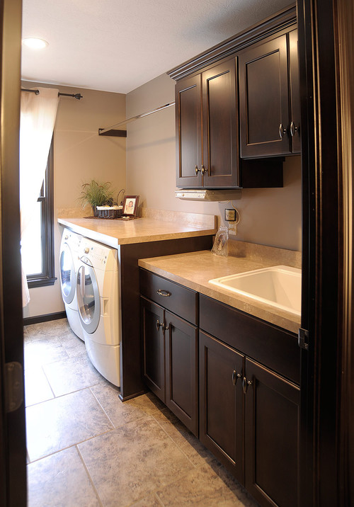 Custom Amish Cabinets traditional laundry room