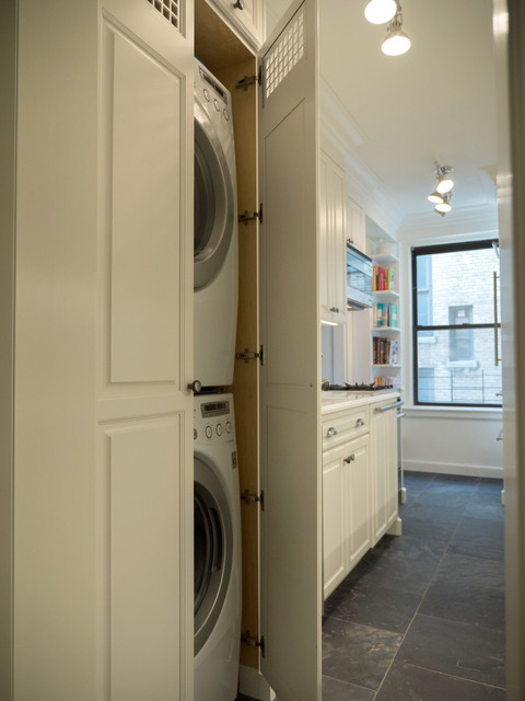 Custom Cabinet For Washer Dryer Traditional Laundry