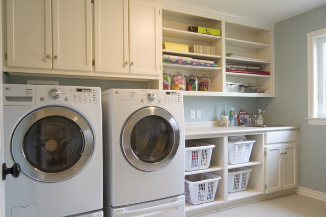 contemporary laundry room by Sawlor Built Homes