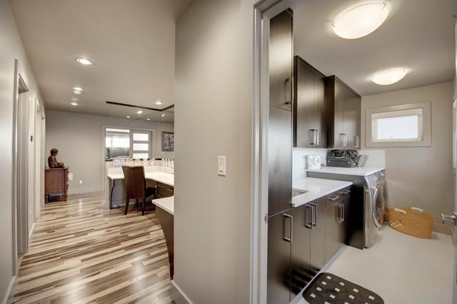Custom Home modern-laundry-room