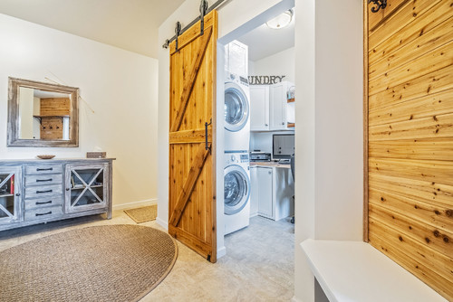 Dedicated laundry room in custom home in Rochester NY