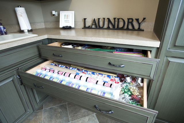 Custom Residence in the Reserve of St. Charles traditional-laundry-room