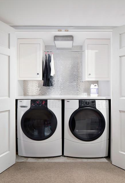 Custom Work Transitional Laundry Room Part 22