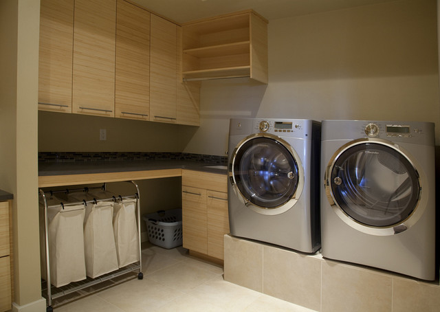 Discreetly Modern By Design Modern Laundry Room