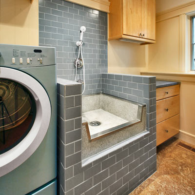 Beautiful Dog Bath Modern Laundry Room