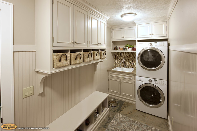 Door style: Pendleton 275 Inset   Species: Paint grade   Finish: White - Traditional - Laundry ...