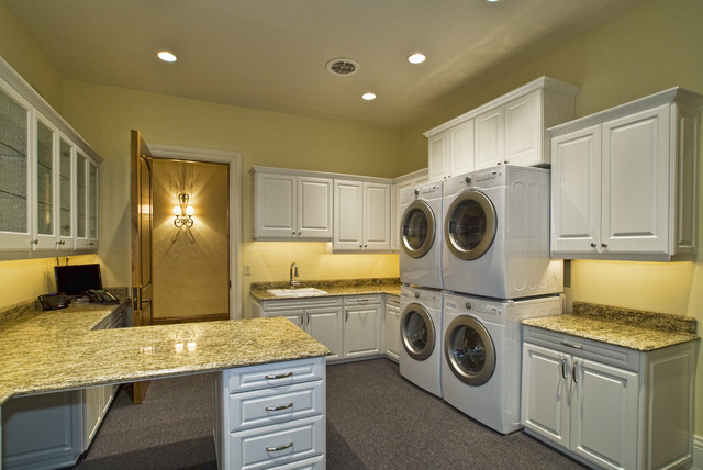 Eagle, Idaho Custom Home eclectic-laundry-room