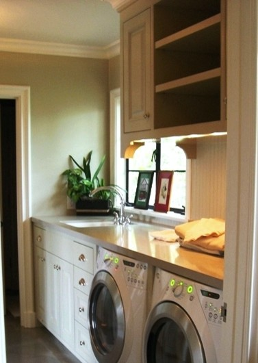 Counter Height In Laundry Room : Did they make the countertop deeper? Maybe higher too?