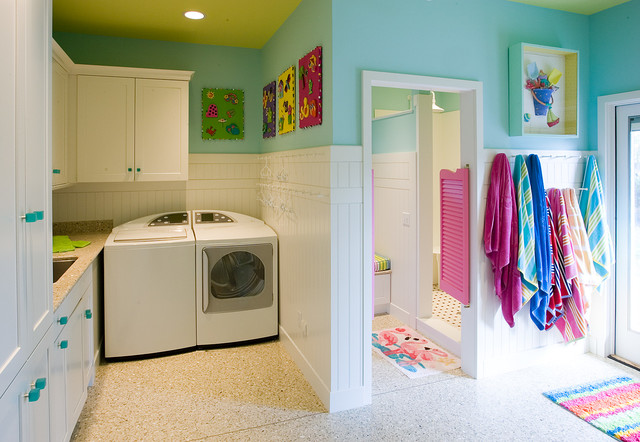 Oldham Residence eclectic-laundry-room