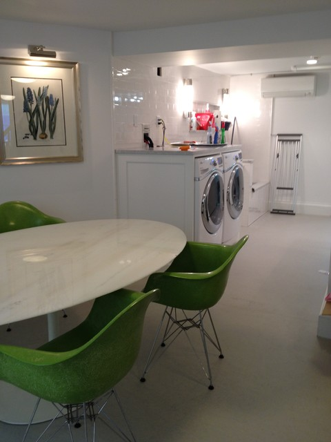 Edwardian in Scarsdale traditional-laundry-room