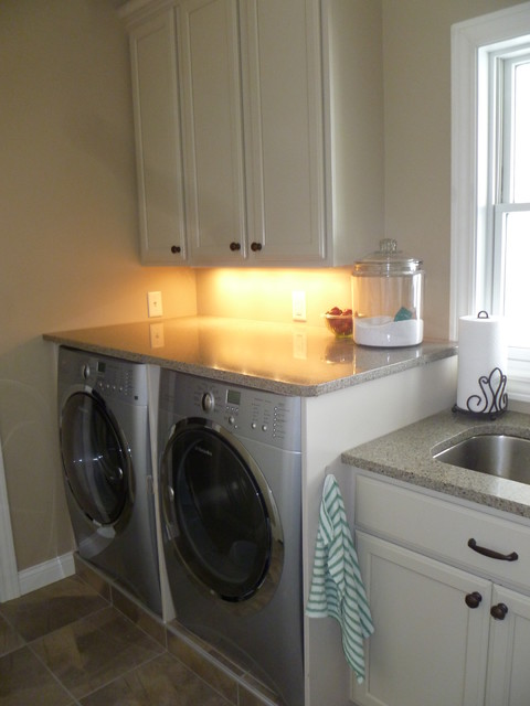 Elk Rapids Custom Home traditional-laundry-room