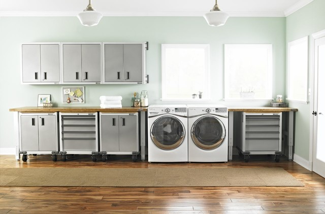 Everest White Modern Laundry Room Other Metro By