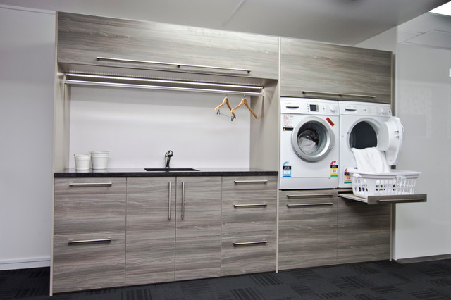 This is an example of a contemporary utility room in Other.