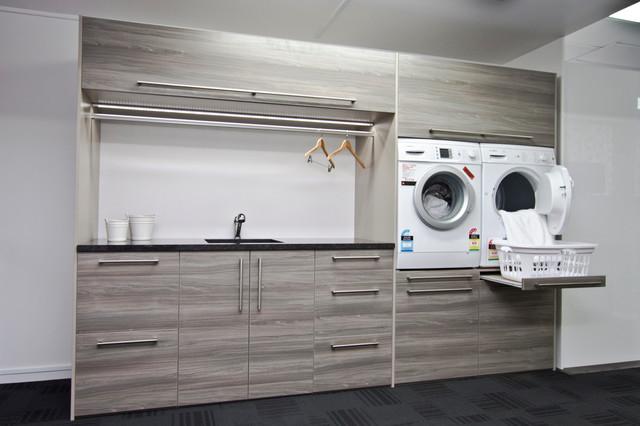 Ezy Kitchens showroom Invercargill contemporain-buanderie