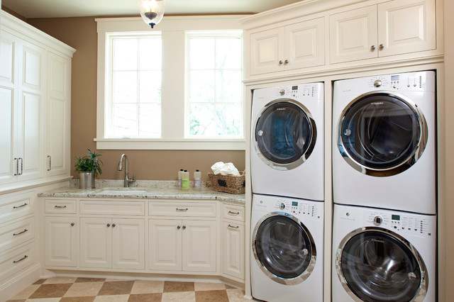 Fairytale Tudor Traditional Laundry Room Minneapolis