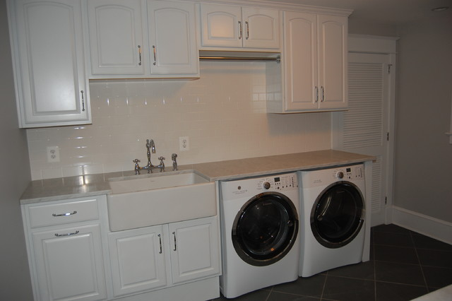 Finished Basement Laundry Room Traditional Utility