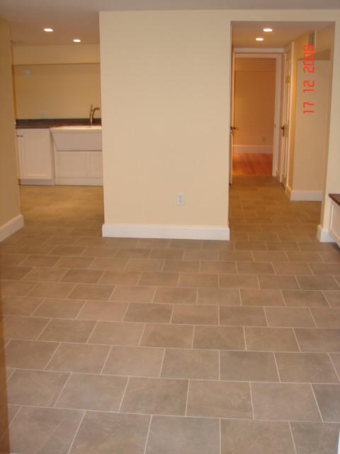 floor traditional-laundry-room