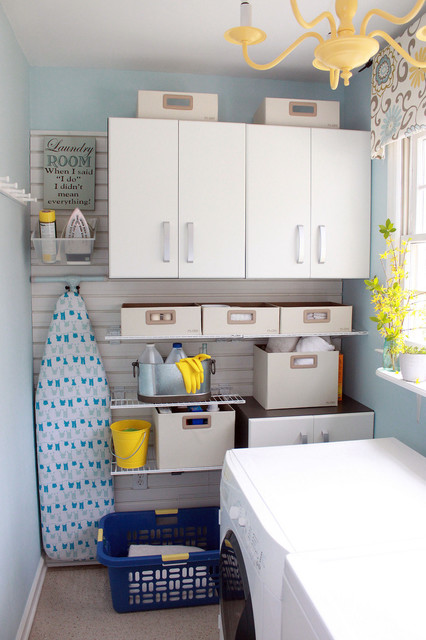 Flow wall storage solutions contemporary laundry room Storage solutions for small laundry rooms