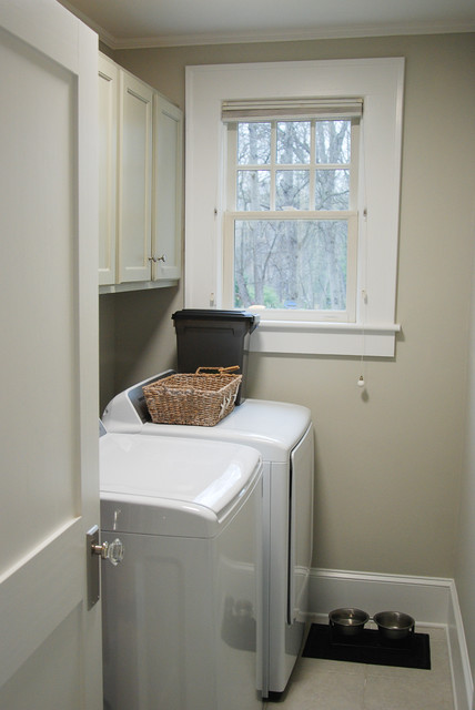 Former Bathroom Becomes Main Floor Laundry Room