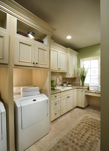 Framed Cabinetry Traditional Laundry Room