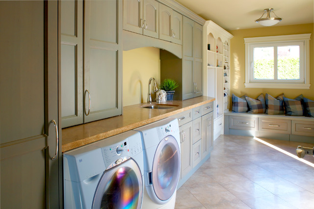 French Chateau Estate traditional-laundry-room