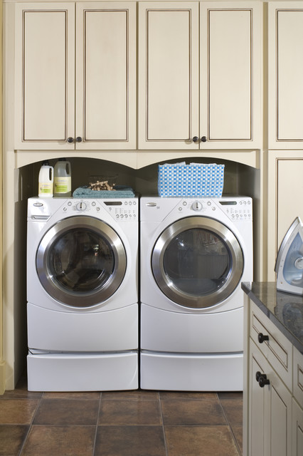 French Country Elegance traditional laundry room