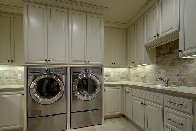 french country mediterranean laundry room sacramento by lee construction. Black Bedroom Furniture Sets. Home Design Ideas