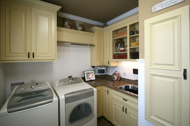 French Country Traditional Laundry Room Charlotte
