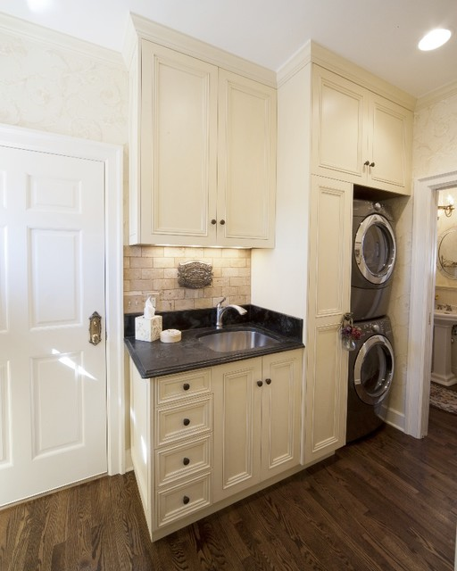 French Style KitchenMediterranean Laundry Room, Denver