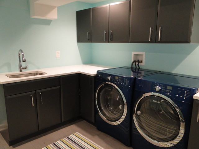 Fresh, fun laundry room contemporary-laundry-room