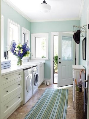 Laundry room/mud room/home entrance & 3/4 bath remodel. - Houzz