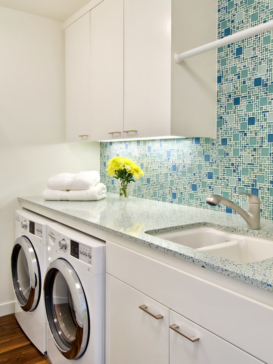 Laundry Countertop Materials : Counter Material Terrazzo Concrete Laundry Room Design Ideas, Pictures ...