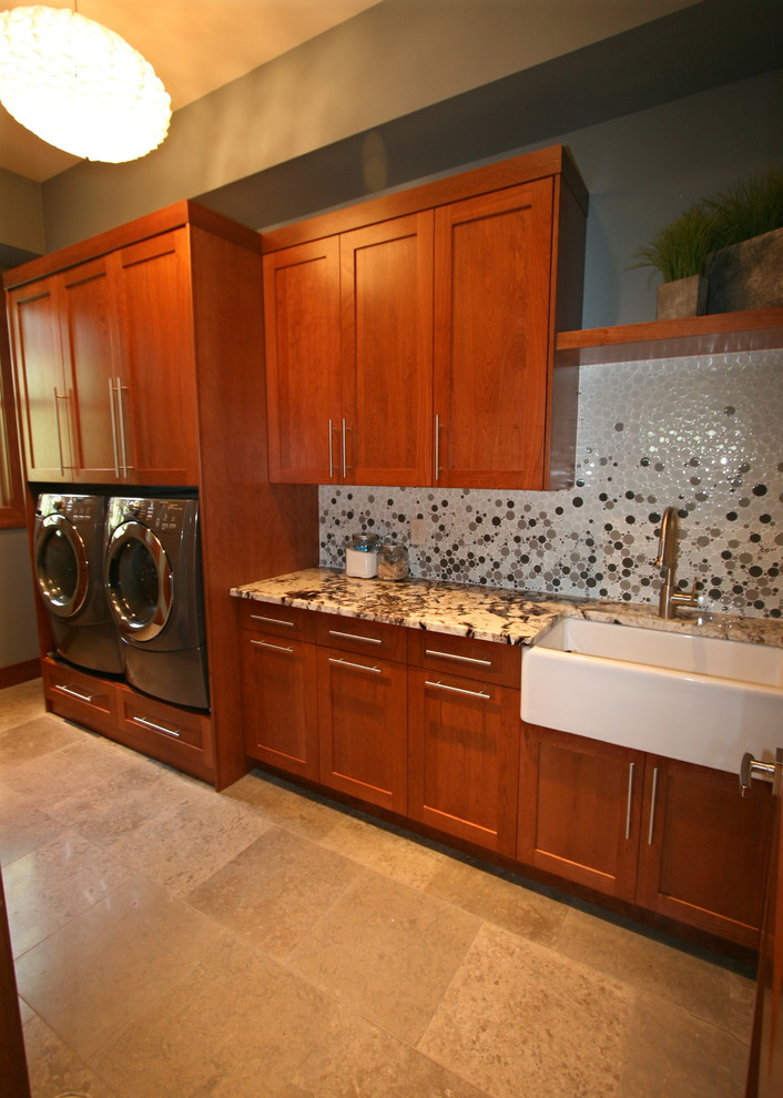 Inspiration for a laundry room remodel in Seattle